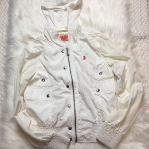 Juicy Couture White Light Rain Hoodie Size S